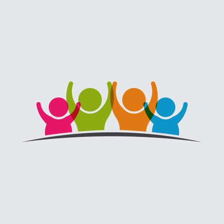 Mensen icoon Groep Stock Illustratie