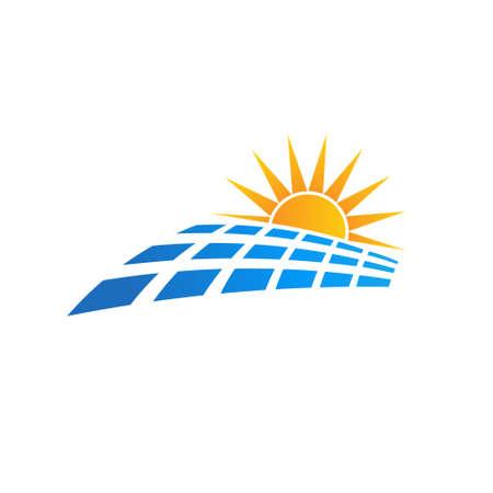 radiacion solar: Insignia de Sun del panel solar