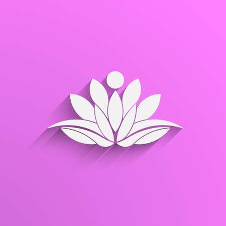 Lotus Person Pflanze logo Standard-Bild - 49634383