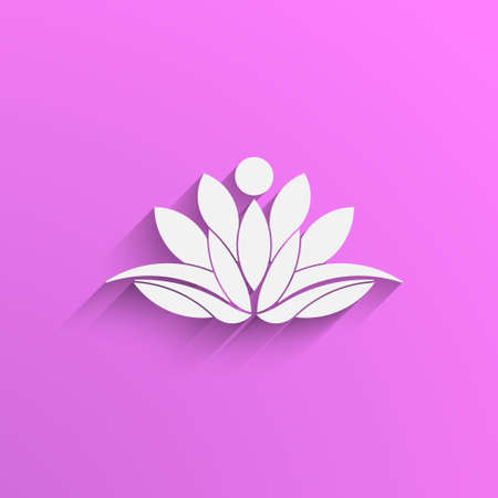 Lotus person plant logo