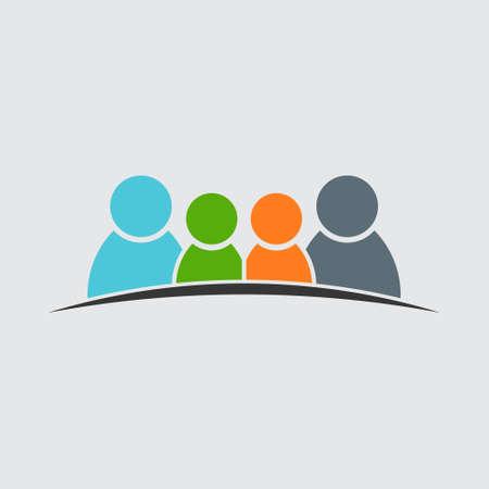 People vector icon Illustration
