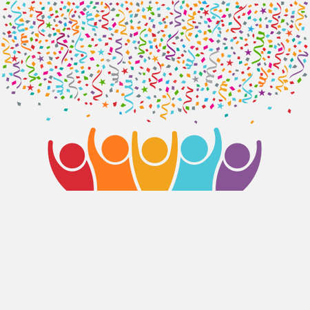 happy people: Happy People Party. Celebration concept for Birthdays and New years night