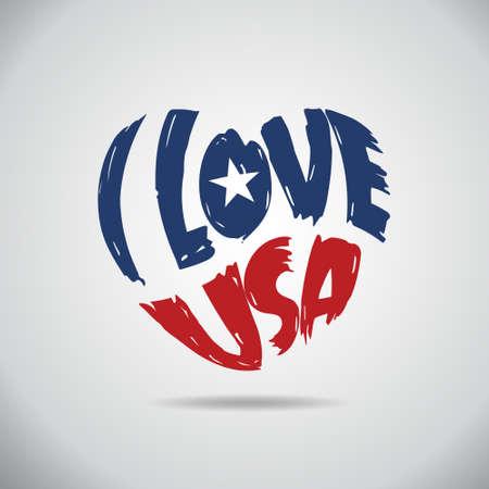Ik houd van de VS Hart Logo.