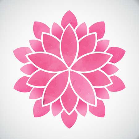연꽃입니다. 수채화 스타일입니다. 벡터 그래픽 디자인 일러스트