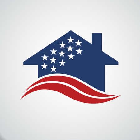 Amerykański dom logo