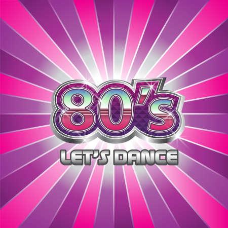 80 年代のダンス パーティーの図