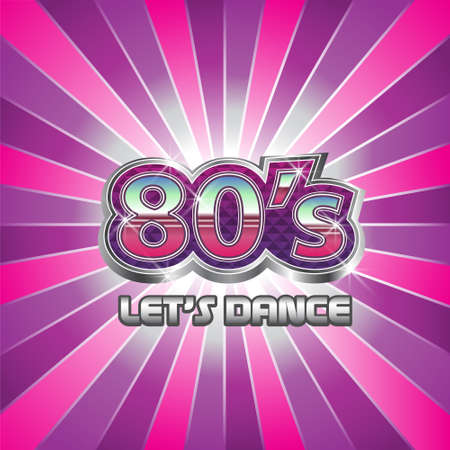 80s Dance Party illustratie Stock Illustratie
