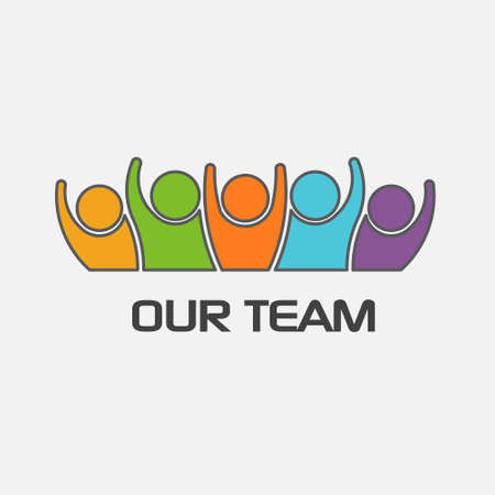 team leader: Our team group of people. Vector design
