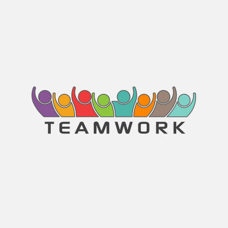business group: Teamwork group of people. Vector design Illustration