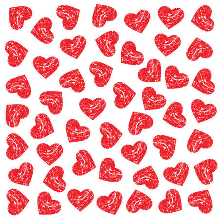happy business woman: Pattern Scrached Hearts. Vector design graphic