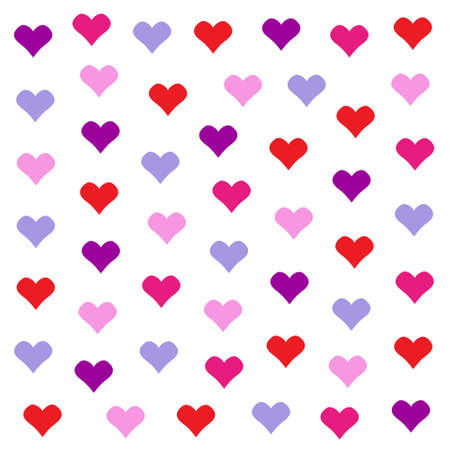 giftwrap: Lovely heart background in pretty colors. Valentines Day vector design
