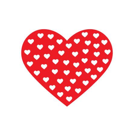 Modelo de los corazones insode gran corazón. gráfico vectorial