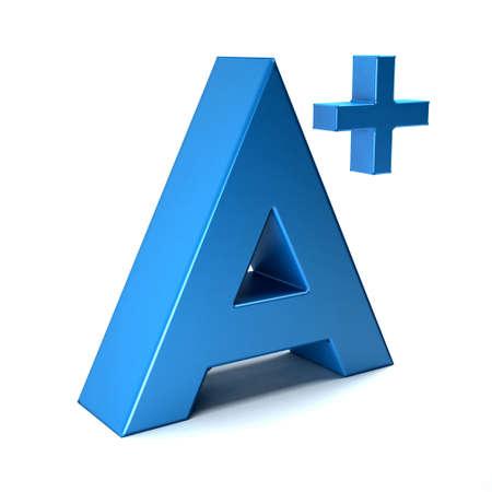 grade: A plus grade letter
