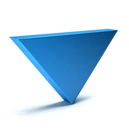 diminishing point: Index down - 3D arrow icon Stock Photo