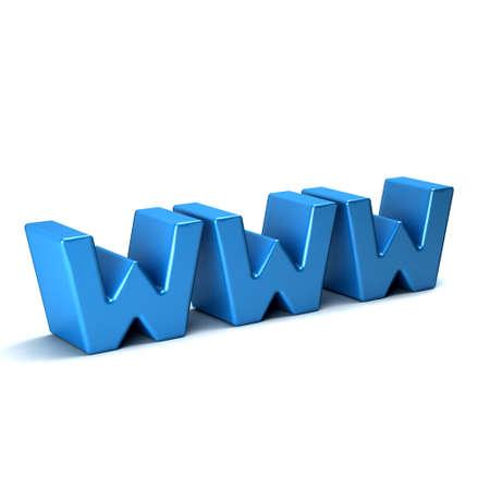 world wide: WWW- world wide web 3D sign