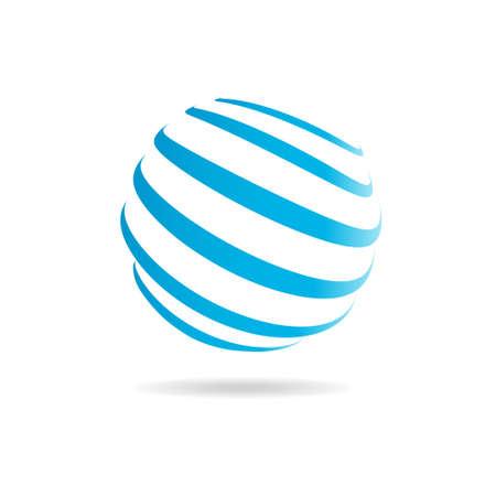 Hola logotipo esfera Tech. Vector de diseño gráfico Foto de archivo - 52631554