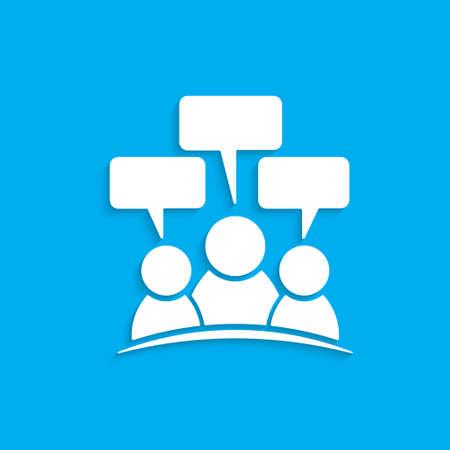 speech: People speech. Vector graphic design