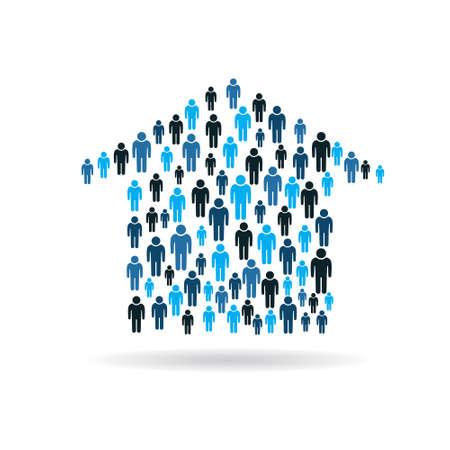 Maison acheteurs graphique. Vecteurs