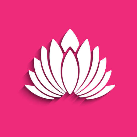 karma concept: Lotus flower. Concept of spirituality, peace, relax. Vector graphic design