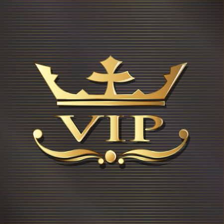 platinum: VIP in golden luxury background. graphic design