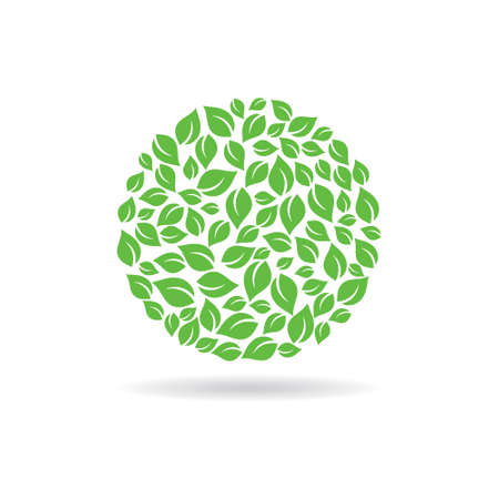 graphic: Circle of leaves. design graphic illustration Illustration