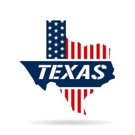 Texas patriotic map graphic design illustration Illustration