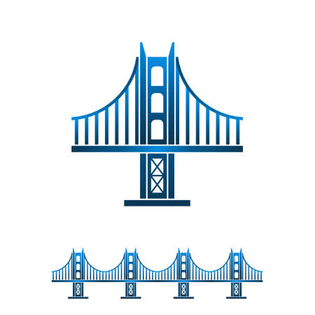 clipart street light: San Francisco bridge seamless profile. Vector graphic design illustration