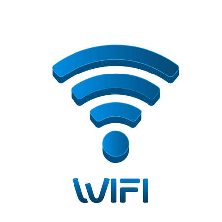 wireless lan: Wireless Network Signal Logo. Vector graphic design