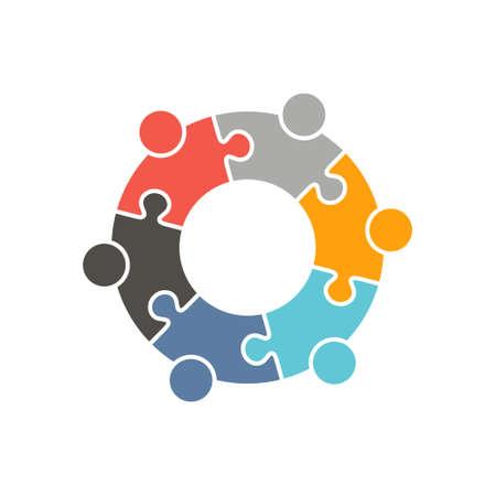 Logo Persone Gruppo. Vector graphic design illustrazione