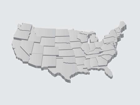 États-Unis carte en 3D