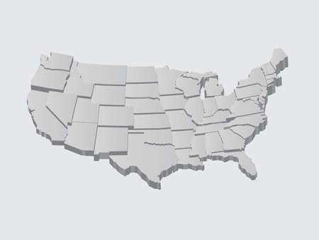 Stati Uniti Map 3D