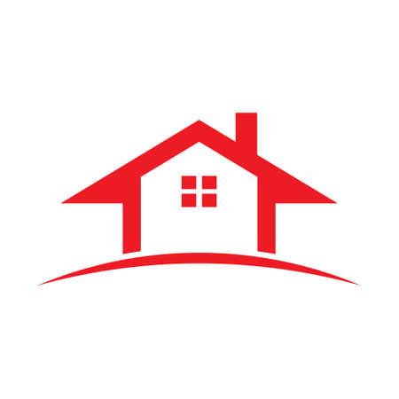 Maison Rouge Real Estate. Banque d'images - 56478688