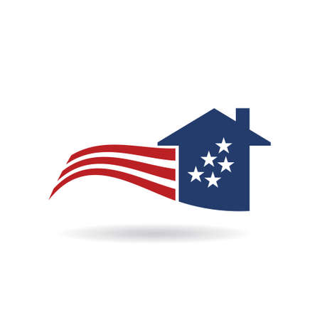 casa American Flag graphic design