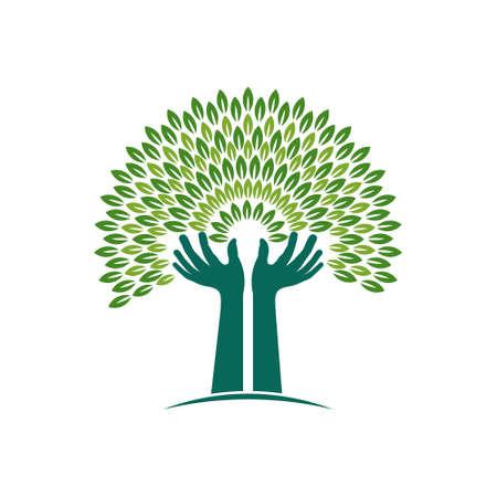 plats: Hands Tree of Faith graphic illustration