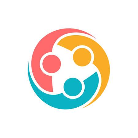 segurar: Logo Grupo de Proteção pessoas. Vetor gráfico ilustração projeto