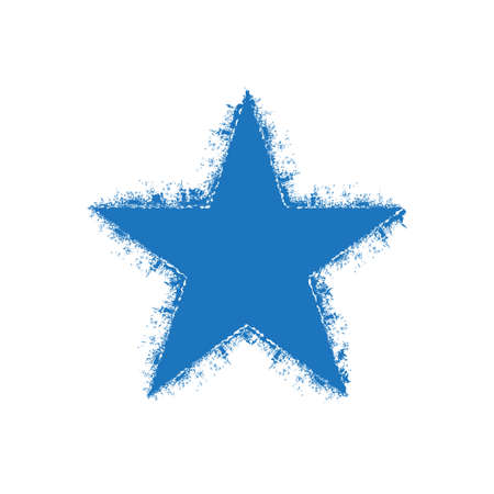 sterne: Grunge Stern. Vektor-Grafik-Design Illustration