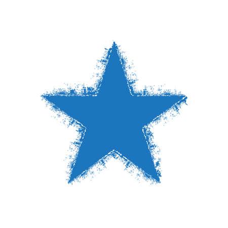 estrella: logotipo de la estrella de Grunge. Vector de diseño gráfico
