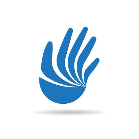 La mano del diseño del logotipo. Vector ilustración gráfica