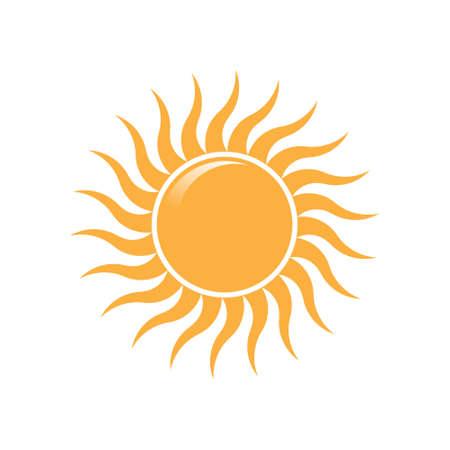 słońce: Summer Sun fali promieni logo. Wektor projektowanie logo