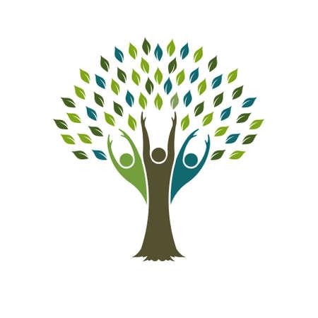 Tree of Liberty logo. Vector grafisch ontwerp