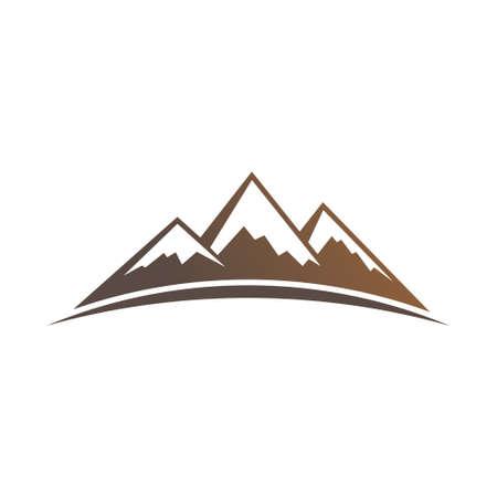 rock layer: Mountains . Vector graphic design