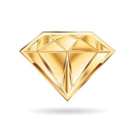 diamond: Gold wedding diamond  . Vector graphic design Illustration