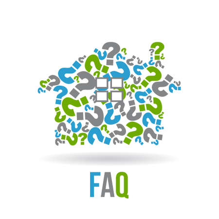 Real estate house  FAQs . Vector graphic design