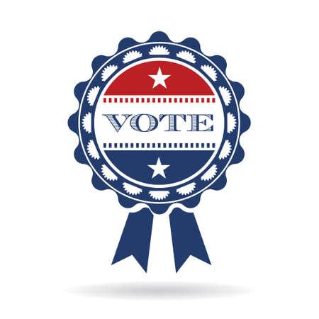 senate: Vote american ribbon logo. Vector graphic design Illustration