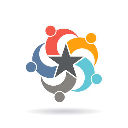 People Social Network Star . Vector graphic design