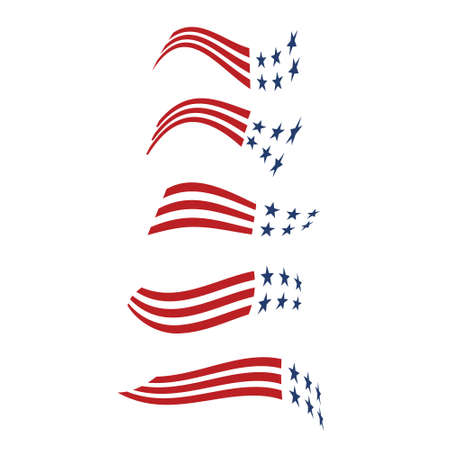 primaries: United States Stars and stripes . Vector graphic design Illustration