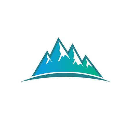 peak: Peak Mountains . Vector graphic design Illustration