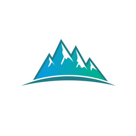 tectonic: Peak Mountains . Vector graphic design Illustration