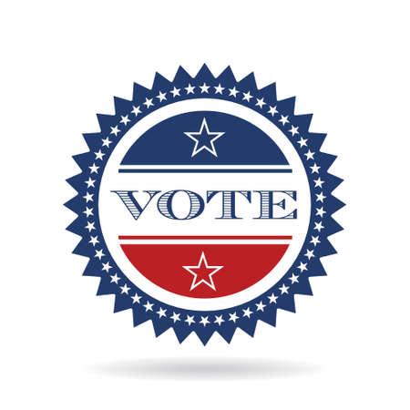 Vote american insignia  logo. Vector graphic design Illustration