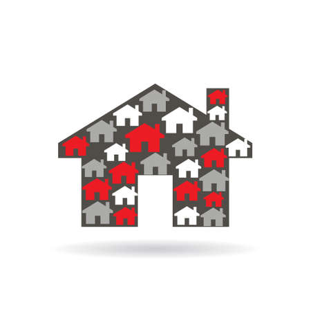 sold small: House properties . Vector graphic illustration design Illustration